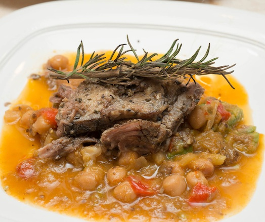 Braised Lamb Breast and Meyer Lemon Tajine with Orange–Spice Gastrique